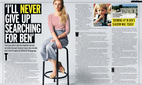 """""""I'll Never Give Up Searching For Ben, interview with Leighanna Needham; Fabulous"""