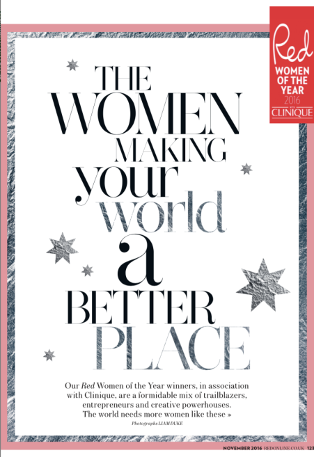The Women Making Your World A Better Place; Red